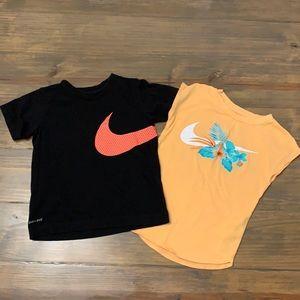 Nike tee bundle. Size 5 (small)